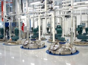 paint manufacturing line